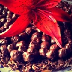 Шоколадный хрустящий торт