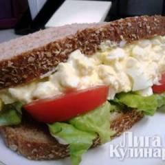фото рецепта Сэндвич с яйцом