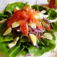 фото рецепта Салат  слоеный с  лососем