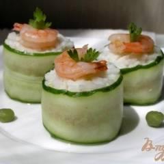 фото рецепта Роллы с тунцом и креветками