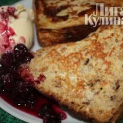 фото рецепта Французские тосты с черничным вареньем