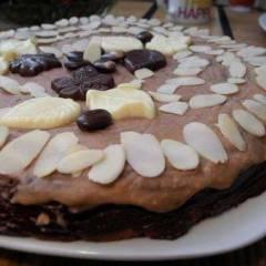 фото рецепта Кекс с миндалем и кокосом в глазури