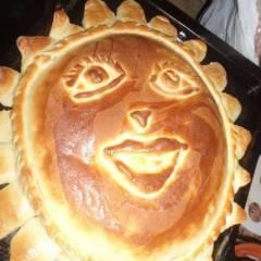 Пирог с абрикосами (курагой и черносливом)