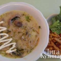 Грибной суп с сырком