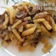 Картошечка жареная с грибочками