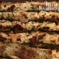 фото рецепта Шашлык из курицы по-восточному