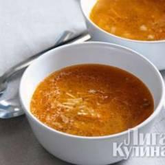 Суп с лапшой и томатом
