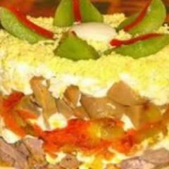 Салат из говяжьего сердца и грецких орехов для кормящей мамы