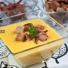 фото рецепта Тыквенный крем-суп с белым вином