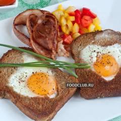 фото рецепта Яичница в хлебе