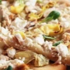 Пицца с артишоком и беконом