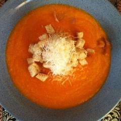 фото рецепта Тыквенный суп-пюре с беконом