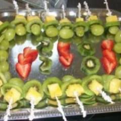 фото рецепта Канапе с фруктами