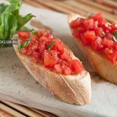фото рецепта Брускетта с помидорами