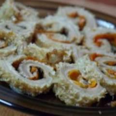 фото рецепта Рулет из требухи
