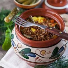 фото рецепта Димкина каша (гречневая каша с овощами и сыром)