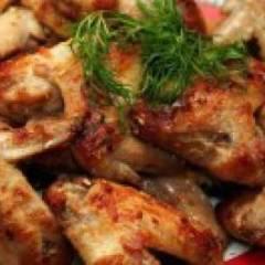 фото рецепта Шашлык из куриных крылышек