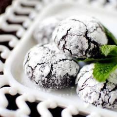 фото рецепта Печенье с мятой и темным шоколадом