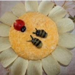 фото рецепта Салат ромашка с чипсами
