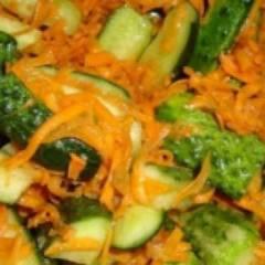 фото рецепта Салат из огурцов по-корейски