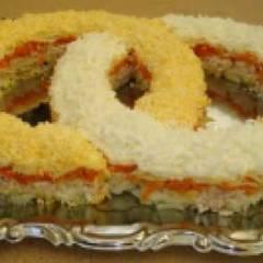 фото рецепта Вкусный салат на свадьбу