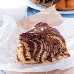 фото рецепта Кекс «Зебра»