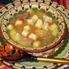 фото рецепта Суп гороховый со свининой
