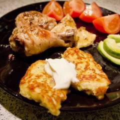фото рецепта Картофельные оладьи с фенхелем