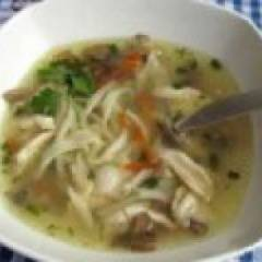 фото рецепта Куриный суп-лапша с грибами