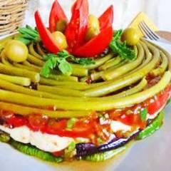 Торт из запеченных овощей