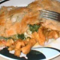 фото рецепта Сэндвич с цыпленком, шпинатом и сыром