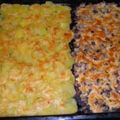 Сморчки запеченные под сыром с картофелем