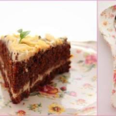 фото рецепта Морковно-шоколадный торт с кремом