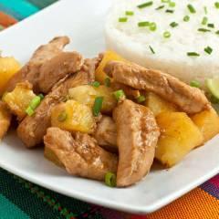 фото рецепта Курица с ананасами