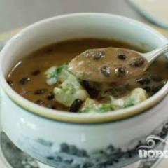 Суп с фасолью и огурцами