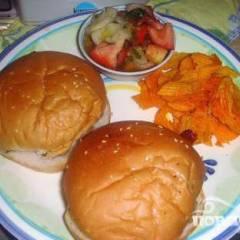 фото рецепта Бургеры с беконом и грибами