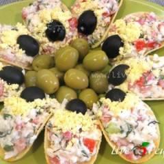 фото рецепта Закуска на чипсах (сырная)