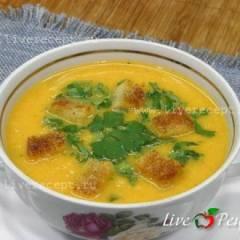 Суп-пюре из яблок и тыквы