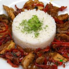 фото рецепта Куриное филе в соевом соусе с овощами