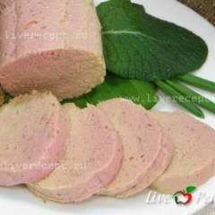 Вареная куриная колбаса по-домашнему