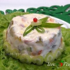Белый заливной салат