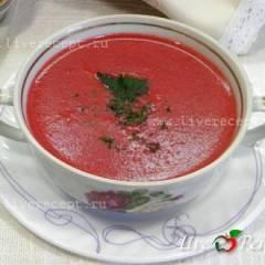 фото рецепта Свекольный крем-суп