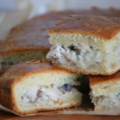 фото рецепта Пирог со скумбрией