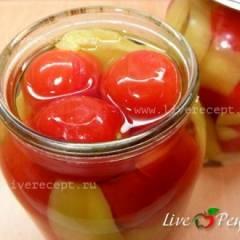 фото рецепта Ассорти из помидоров и сладкого перца