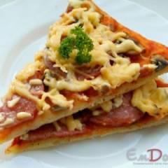 Пицца из теста на кефире