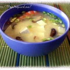 фото рецепта Мисо суп с шиитаке и креветками