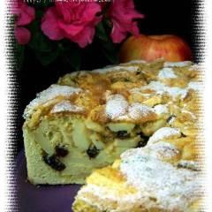 фото рецепта Яблочный пирог с миндалем, клюквой и изюмом