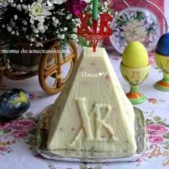 фото рецепта Творожная пасха с цукатами