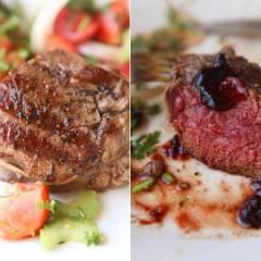 фото рецепта Стейк из говядины с классическим винным соусом