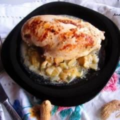 Курица в горчично- луковом соусе